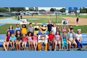 Splash and the Myrtle Beach Pelicans Join Free2Luv to STRIKE OUT BULLYING